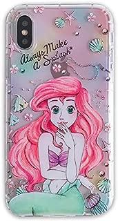 Ultra Slim Soft TPU Transparent Mermaid Ariel Case for iPhone XR iPhoneXR 6.1 Clear Walt Disney Cartoon Princess Pink Protective Cute Lovely Gift Little Girls Teens Kids Daughter Always Make A Splash