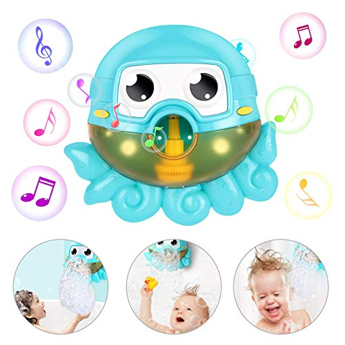 Affordable WXCC Children of Bubble Bath Machine, Bath Toy Machine Bubble Bath Octopus Foam Machine w...