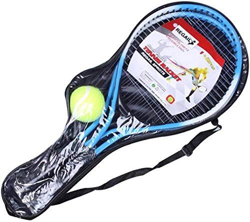 YAYY Raquetas de Tenis para niños 2 Piezas de aleación de Hierro Raquetas de Tenis para niños Raquetas de Tenis de Cuerda con 1 Pelota de Tenis y Bolsa de Cubierta 54cm22cm(Upgrade)