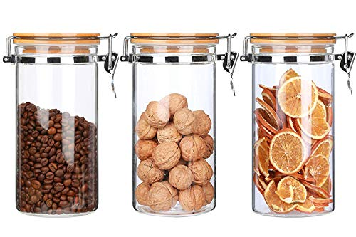 Contenedores de Almacenamiento de Alimentos Con Tapas de Sujeción Herméticas Frascos de Almacenamiento de Cocina de Gran Capacidad Para Cereales Harina Café Alimentos Para Mascotas