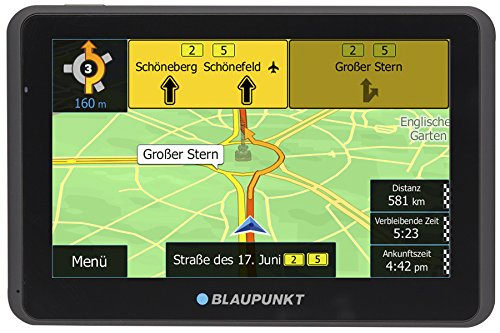 Blaupunkt 1091234023 TravelPilot 55 ACTIVE CE LMU 5 Zoll PKW Navigation, Navigationssystem, Aktiv Halter, Central Europa Karte, Lifetime Update, TMC