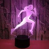 Laufsport-Bild-Nachtlicht 7 Farbe führte Sichttischlampe USB-3D