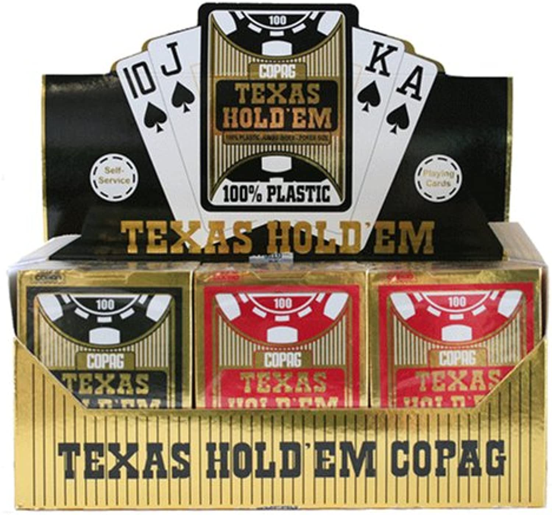 Kartenspiele Copag Texas Hold'em - schwarz B000UPTSXU  Die Farbe ist sehr auffällig     | Modern
