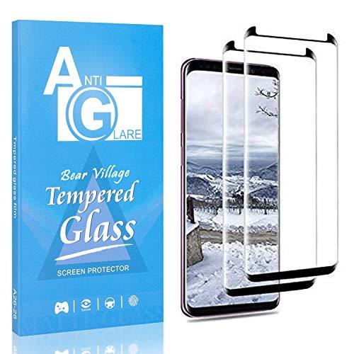 Bear Village Displayschutzfolie Kompatibel mit Galaxy S8, Anti Kratzen Schutzfolie aus Gehärtetem Glas für Samsung Galaxy S8, 99% Transparenz, 9H Härte, 2 Stück