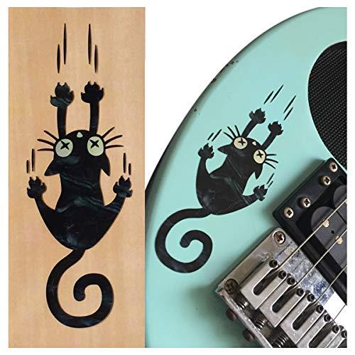 Pegatina para incrustaciones de guitarras y bajo – Ripping Slipping Cat – Black Pearl, B-300RC-BP