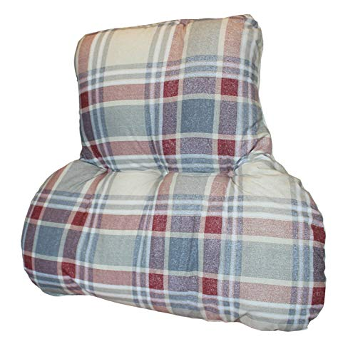 Duvet and Pillow Company POSTURE THERAPY XL BACK SUPPORT CUSHION - Tartan Print -...
