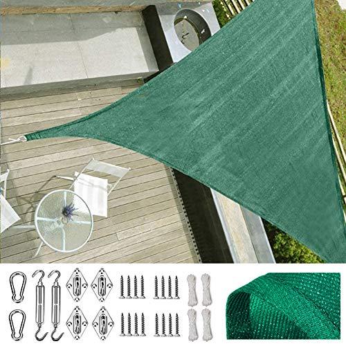 SUNDUXY Verde Toldo Vela de Sombra Triangular, 95% de protec