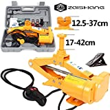 ZS ZaishangCric elettrico a parallelogramma, sollevatore per auto, da 12V, con capacità di 2000 kg, altezza di sollevamento: 12,5–42cm