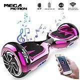 Mega Motion Self Balance Scooter E1 - Gyropode électrique 6.5' Bluetooth (Chrom Rose)