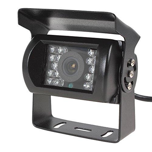 BW HD-Rückfahrkamera/Rückwärtsfahrkamera, für Auto, LKW, Van, Bus, Wohnwagen, wasserdicht, Nachtsicht, DC 12-24 V