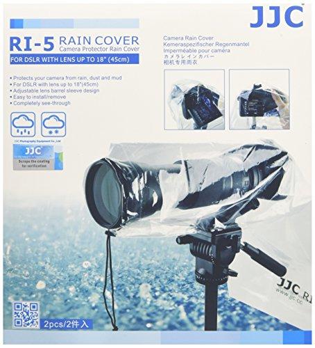 JJC Copertura antipioggia per fotocamera Reflex, Confezione da 2 pezzi