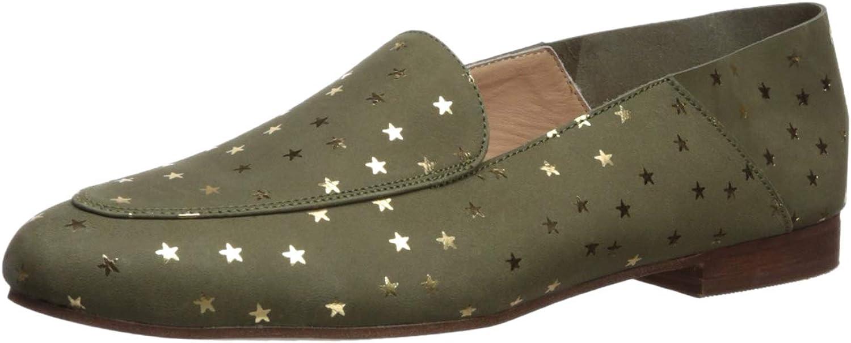 KAANAS Womens Capri Metallic Star Loafer Flat Slip on shoes Loafer Flat