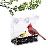 Wild Birds of Joy Window Bird Feeder with Super Strong Suction Cups and High...
