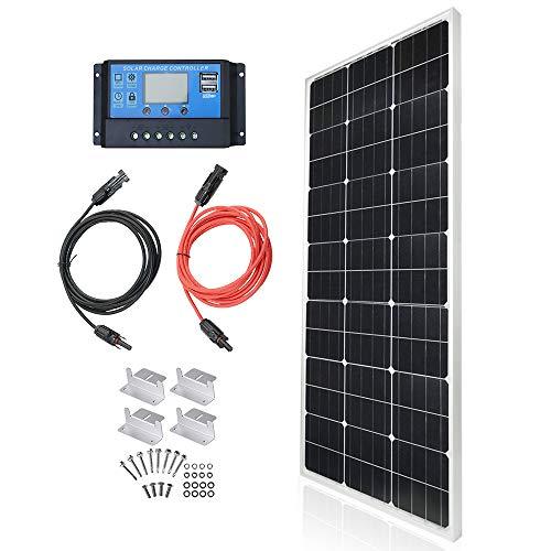 TP-solar Solar Panel Kit 100 Watt 12 Volt Monocrystalline Off Grid System for Homes RV...