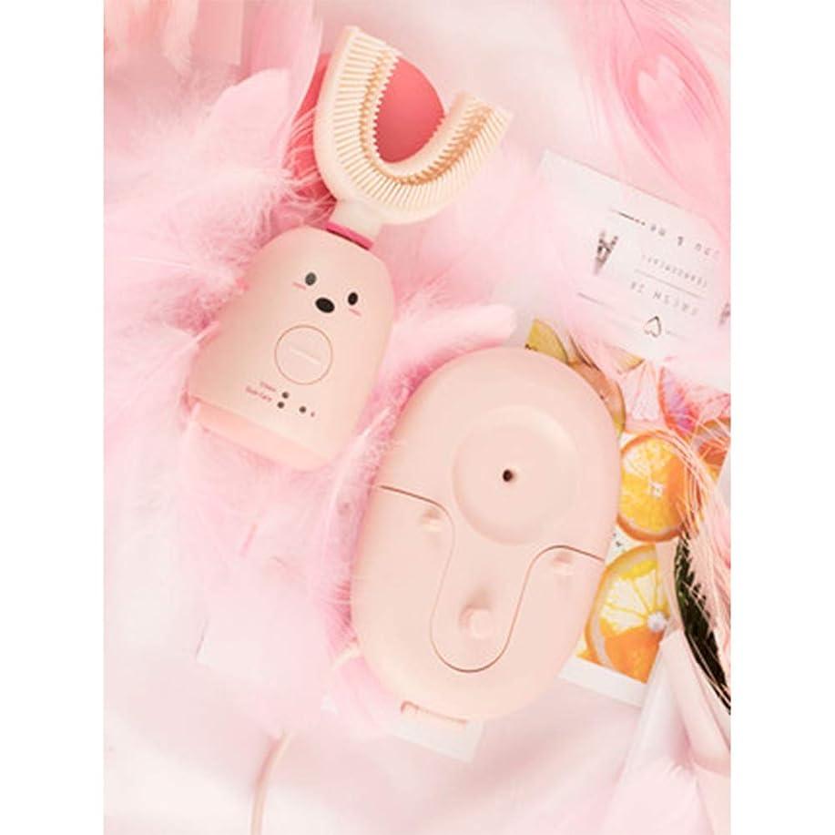 法律により家事をするハンサムU字型歯ブラシ、超音波美白歯ブラシ、レイジークリーンホワイトニング歯ブラシ、防水-Pink