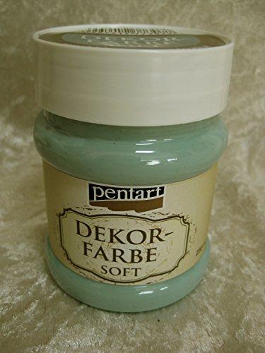 Pentart Dekorfarbe soft Farbton rauchblau country-blue Shabby Farbe Chalky Vintage Look für Möbel Upcycling Farbe 21667 230ml