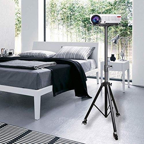 Home Equipment Projector Stands Tripod Projector Stand Adjustable DJ Laptop Stand with Height And Tilt Adjustment Portable Laptop Projector Table with Steel Tripod Base And Tray Projector Accessori