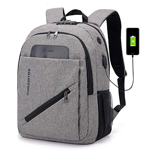 CMZ Women's Smart Backpack USB Interface Charging Backpack Male Anti-Theft Password Lock Large Capacity Waterproof Travel Student