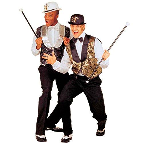 NET TOYS Dandy bâton avec Son Canne de Dandy Noir et Blanc MAQUE bâton bâton de Danse Canne bâton de maquereau Canne de Carnaval