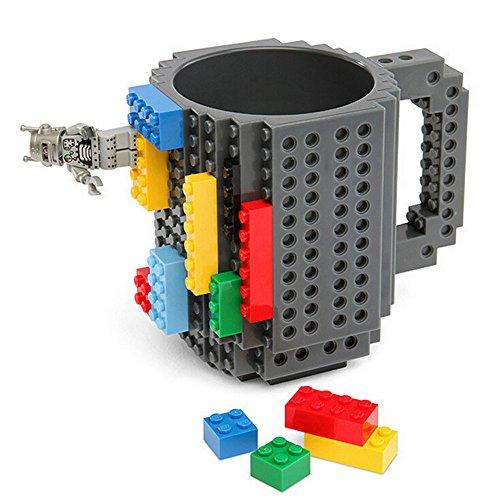 350ml DIY Creative Mug Bausteine Kaffeetasse Block Puzzle Tasse Office schwarz