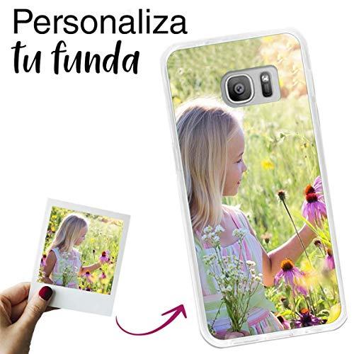 Mookase Funda para Samsung Galaxy S7 Personalizada para TU MÓVIL con Imagen O Texto, Carcasa Personalizable, Gel Flexible, Borde Trasparente, Regalo Original