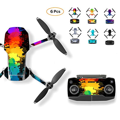 Skyreat 6 Stickers Kit für Mavic Mini wasserdichte Aufkleber Skins Wrap Aufkleber Body Protector Für DJI Mavic Mini Drohne Zubehör 3 Mt Scotchcal Film