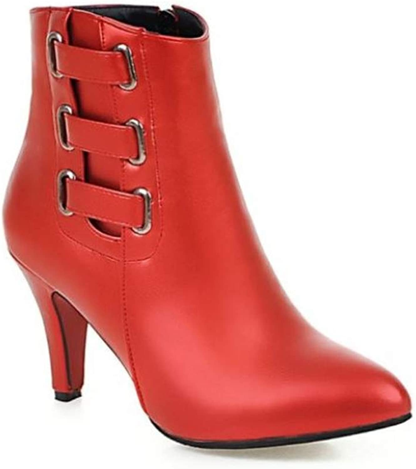 FORTUN Martin Boots Pointed Toe Women's Boots high Heel Ankle Boots