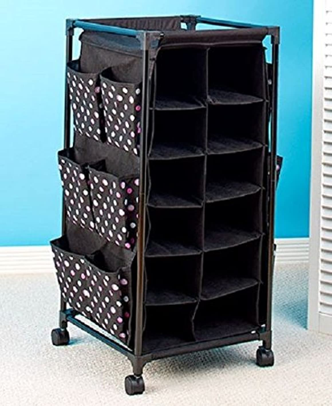 Polka Dot Fashionable Rolling Shoe Footwear Storage Rack Organizer Cubbies