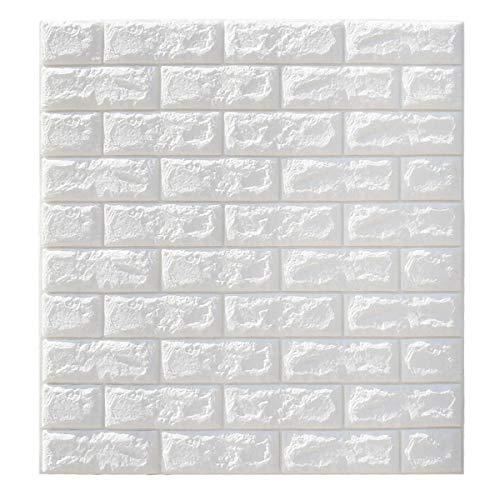 DIY Fertigkeit-Charme 3D-Wasserdichtes Tile Brick Wall Sticker Selbstklebende weißer Schaum-Panel 70x77cm 5Pcs DIY Zubehör für Mädchen Teens Geschenke
