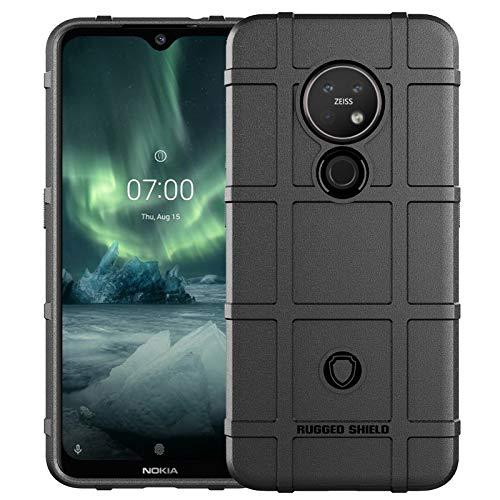 EPODA Nokia 7.2 / 6.2 Schutzhülle Rutschsicher Rutschfest Handyhülle Schützende Hülle Tasche Dünne Schale Hardcase Beständig mit Shock Barrier für Nokia 7.2 (6.3 Zoll) - Schwarz