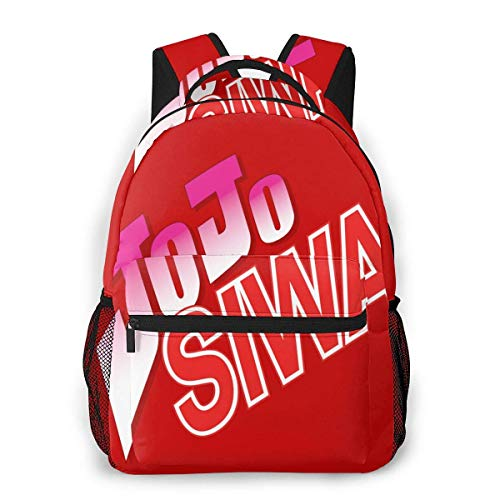 Lawenp Casual Backpack JoJo Siwa Logo Casual Backpack,Backpack Gift for Men and Women,Multifunctional Backpack,Laptop Backpack