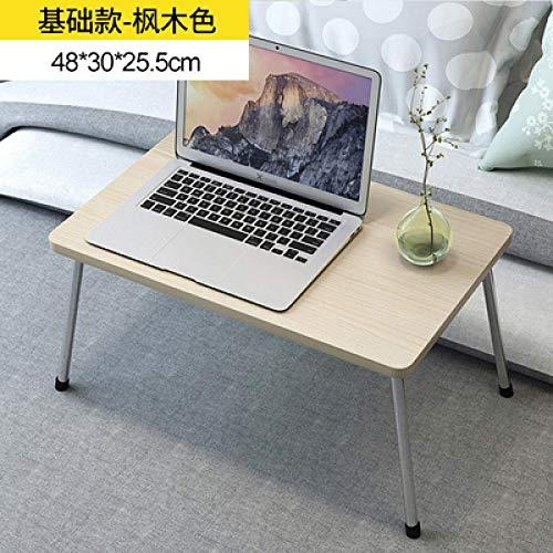 PSSYXT Escritorio de computadora Escritorios portátiles Plegables para computadora portátil Soporte de Mesa de Estudio Mesa de Escritorio de Madera Plegable para Cama Sofá de té, 1