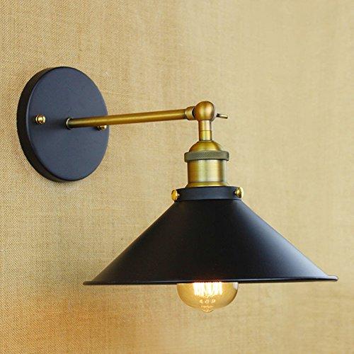 Lampe rétro en fer forgé LED industriel vent, D.