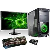 PC DESKTOP INTEL QUAD CORE WIFI/HD 1TB SATA III/RAM 8GB 1600MHZ/HDMI-DVI-VGA/USB 2.0 3.0/MONITOR 24' LED HD HDMI VGA/TASTIERA E MOUSE PC FISSO COMPLETO PRONTO ALL'USO,UFFICIO