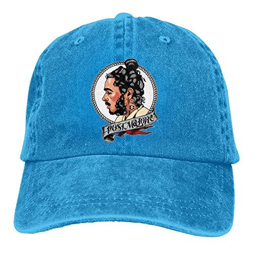 Lucyhu Verstellbar Damen Herren Post Malone Baseball Hat Cap Baseballcap Kappe Flatbrim Mütze Für Jungen Mädchen