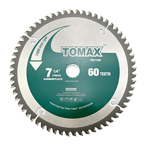 TOMAX 7-1/4-Inch 60 Tooth TCG Aluminum and Non-Ferrous Metal Saw Blade with...