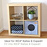 Panier pour chat KaraLuna en feutre de qualité supérieure - Compatible avec IKEA Kallax ou Expedit I