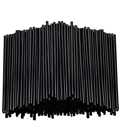 Stirring Straws for Coffee Cocktail Black Plastic Sipping Stirrers 5 Inches Long Drink Stir Sticks For Bars Cafes Restaurants Home Use (4000, 5 Inch)