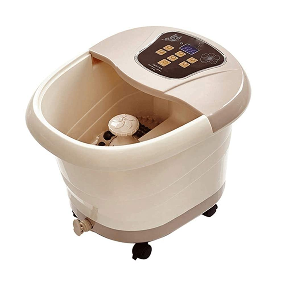 治世周辺金額TBCML ポータブル足温泉マッサージ、手動ローリングマッサージ、ディスプレイ、温度設定、タイマー機能付き