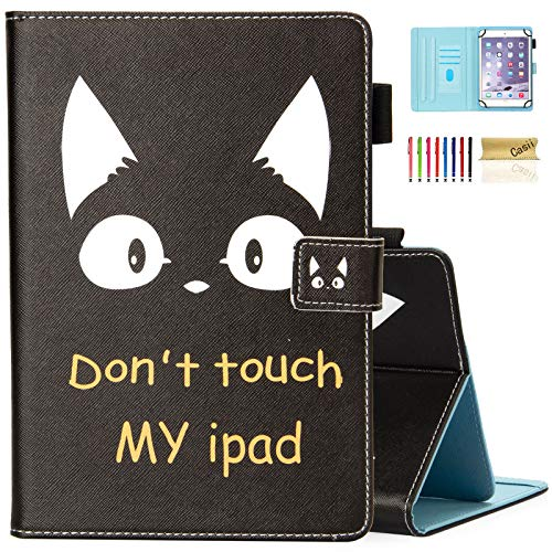 Case for 9.5-10.5 inch Tablet, Casii Protective PU Leather Magnetic Cover for iPad 10.2/iPad 9.7 2018 2017/iPad Air 1 2 3/Galaxy Tab A 10.1 S4 10.5/Tab E 9.6/F ire H D 10 (Cat