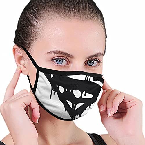 Nicegift Dc Comics Superman Bold Logo Máscara Frontera Negra para Adultos Protección Facial Portátil Bandana 6.8x10.8 pulgadas