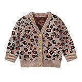 Bebé Niña Suéteres de Algodón Jerseys de Manga Larga Arco Iris Strieps Suéter de Punto