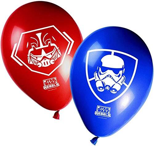 3068; 8 globos decorados STAR WARS REBELS; ideal para fiestas y cumpleaños