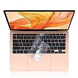 EooCoo Ultra Dünn Tastaturschutz Kompatibel für 2020 MacBook Air 13 Zoll mit Touch Bar (Modell A2179), QWERTZ EU-Layout, TPU Klar