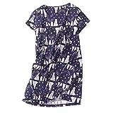 PNAEONG Amoy-Baby Women's Nightgowns Short Sleeves Cotton Sleepwear Print Sleep Shirt XTSY108-Polar Bear-M