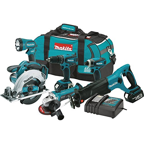Makita XT601 18-volt LXT Lithium-Ion Cordless Combo Kit, 6-Piece- Discontinued by...