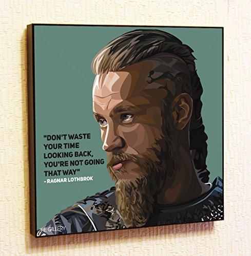 Ragnar Lothbrok Viking Cinema Artist Actor Decor Motivational Quotes Wall Decals...