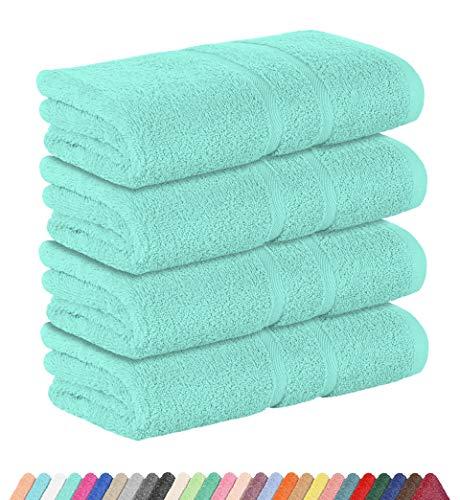 StickandShine 4er Set Premium Frottee Handtuch 50x100 cm in Mint in 500g/m² aus 100% Baumwolle Öko-TEX Standard 100 Materialien