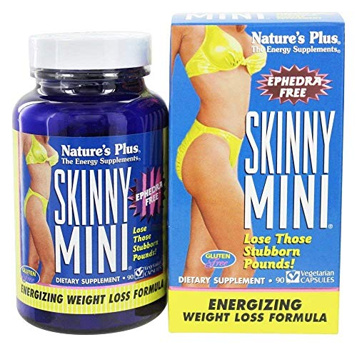 NaturesPlus Skinny Mini - 90 Vegetarian Capsules - Natural Weight Loss Support Supplement, Appetite Suppressant, Metabolism Booster - Gluten-Free, Ephedra Free - 45 Servings