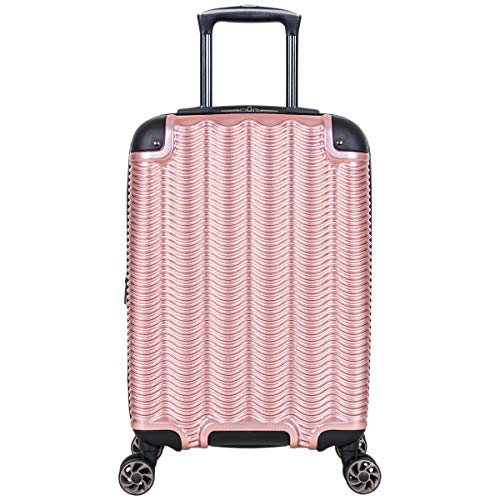 Kenneth Cole Reaction Wave Rush 20' Lightweight Hardside 8-Wheel Spinner Expandable Carry-On Suitcase, Rose Gold